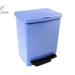 Cubo basura doméstico con pedal 25 litros