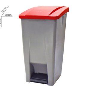Cubo basura selectivo con pedal plástico 60 litros