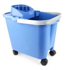 Cubo con escurridor con ruedas 14 litros