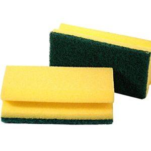 Estropajo con fibra verde y esponja