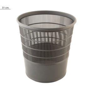 Papelera plástico rejilla 16 litros