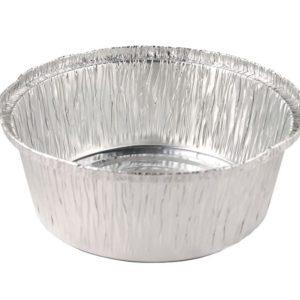 Bandeja aluminio pollo redondo