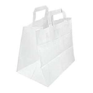 Bolsa cátering blanca 26+20x26