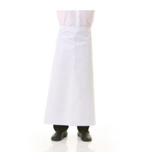 delantal blanco sin peto 96cm