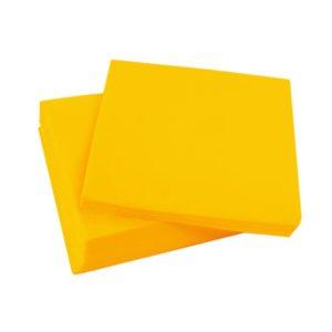 Servilletas micropunto 20x20 amarillo
