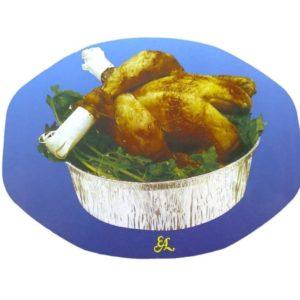 Tapa pollo oval