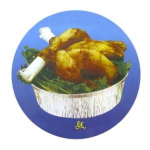 Tapa pollo redondo
