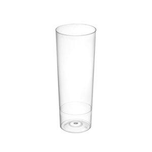 vaso plástico transparente tubo
