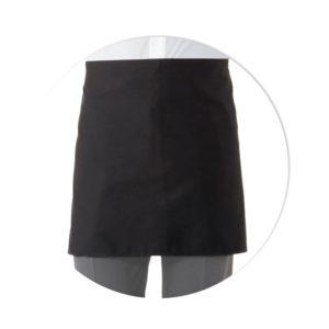 delantal negro sin peto 2bolsillos 42cm