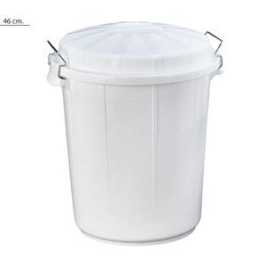 cubo basura blanco 50 litros