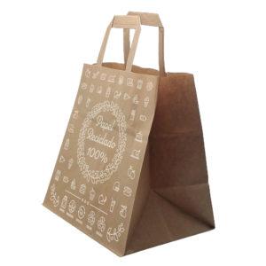 Bolsa impresa papel 100% reciclado