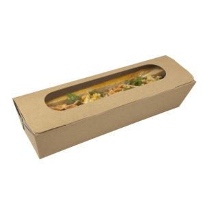Caja bocadillo con ventana de celulosa