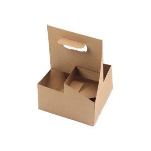 Portavasos 4 unidades de papel