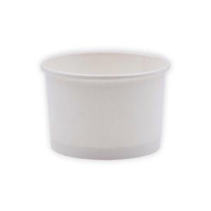 Tarrinas de papel - Blanca - 240 ml